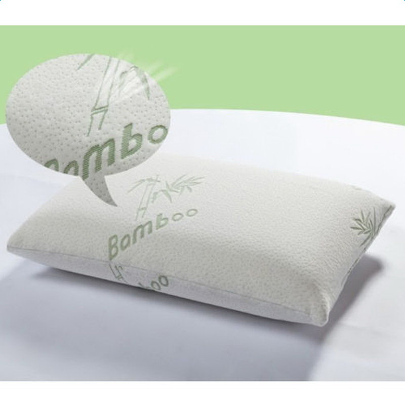 Bamboo Pillow And Removable Case Bag Washable Memory Foam King
