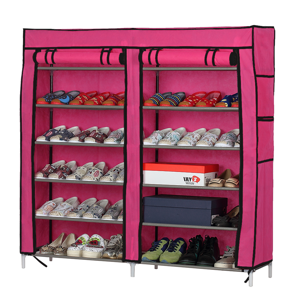 Details About 6 Tier 12 Row Home Shoe Rack Shelf Storage Closet Organizer  Cabinet Portable