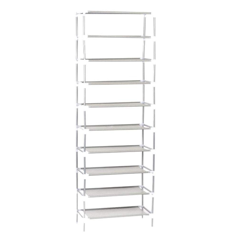 Gentil 10 Tier 30pair Home Storage Organizer Cabinet Shelf Space Saving Shoe Tower  Rack