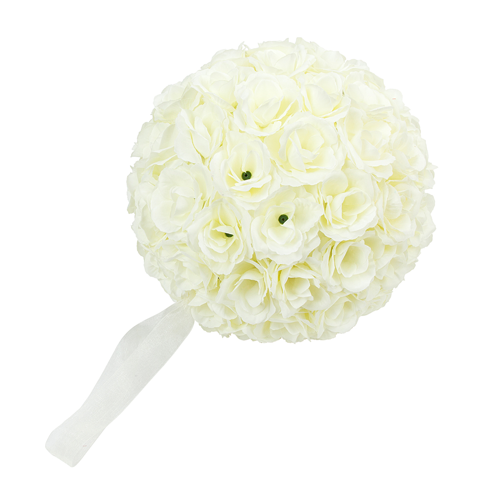 984 25cm Flower Ball Bridal Kissing Silk Pomander Wedding
