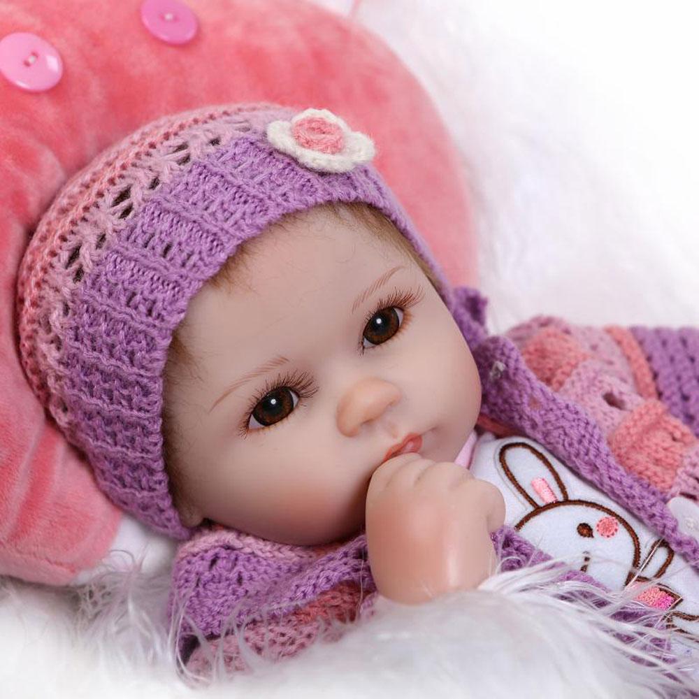 """16"""" realistic silicone reborn baby doll lifelike soft vinyl newborn"""