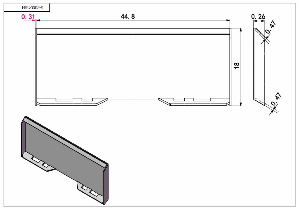 Details about Practical 1/2-inch Quick Tach Attachment Mount Plate Skid  Steer Loader Bobcat