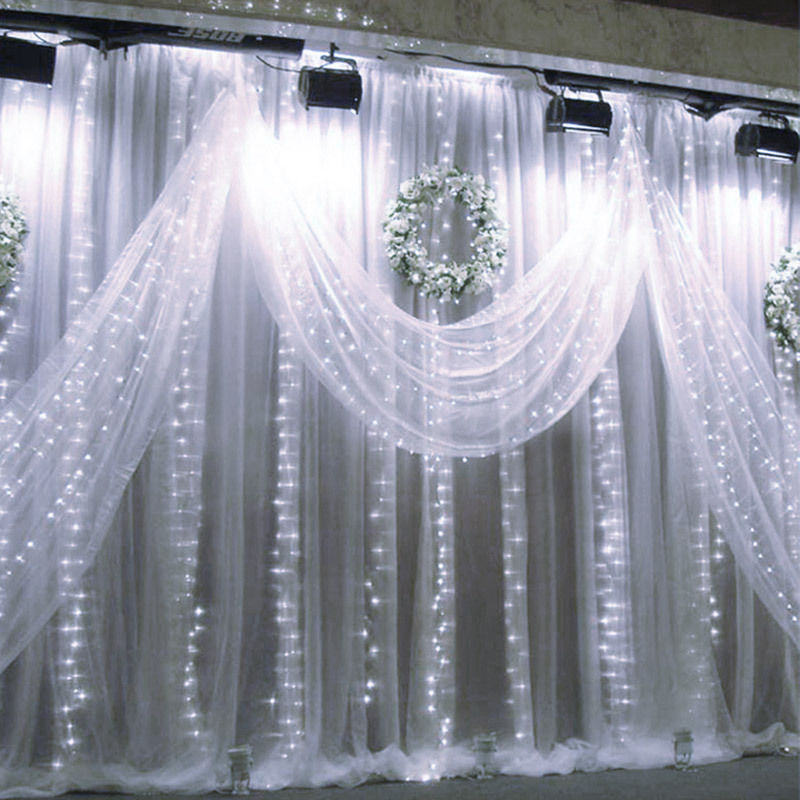 Image result for curtain lights pure white