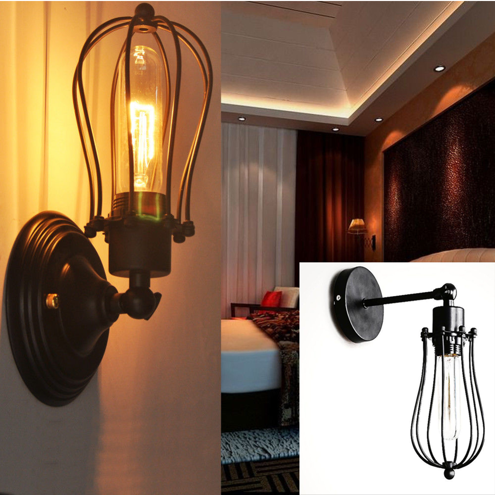 Vintage Industrial Edison Wall Sconce Retro Light Wall Lamp Kitchen ...