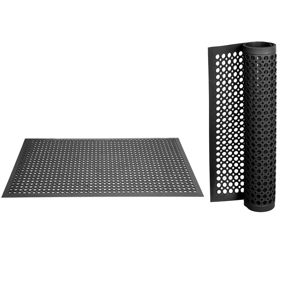2pcs Anti-fatigue Drainage Rubber Non-slip Floor Mat Bar