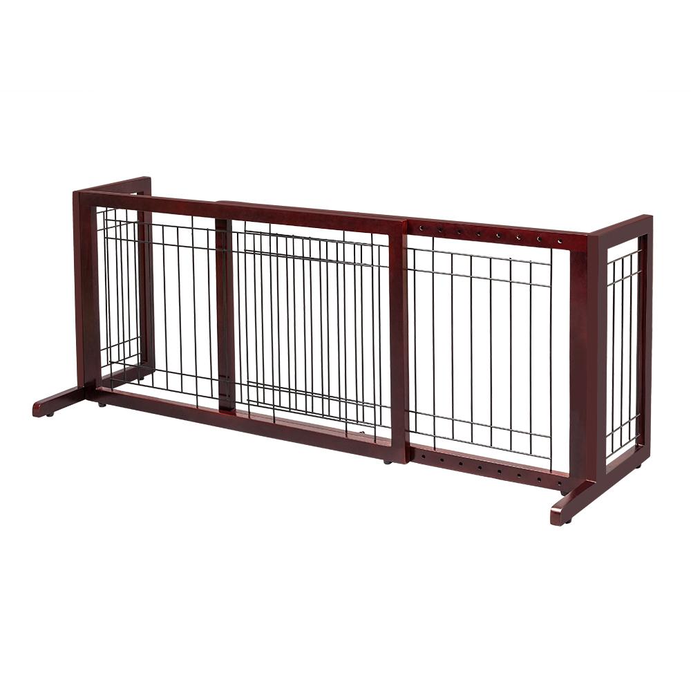Details About Pine Wood Freestanding Dog Pet Gate Adjustable Safety Indoor  Door Fence Large