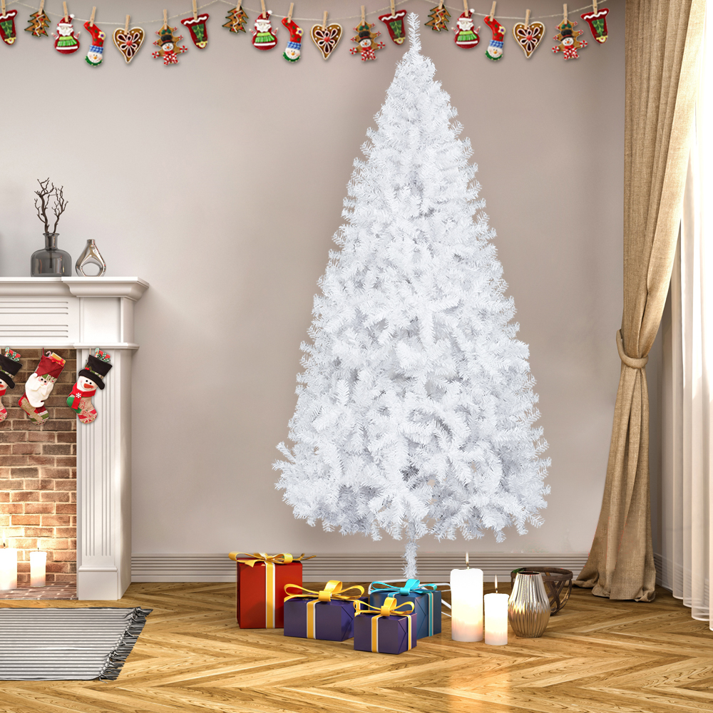 7 FT Tall Christmas Tree W/Stand Holiday Season Indoor Outdoor White Color 696552290909   eBay