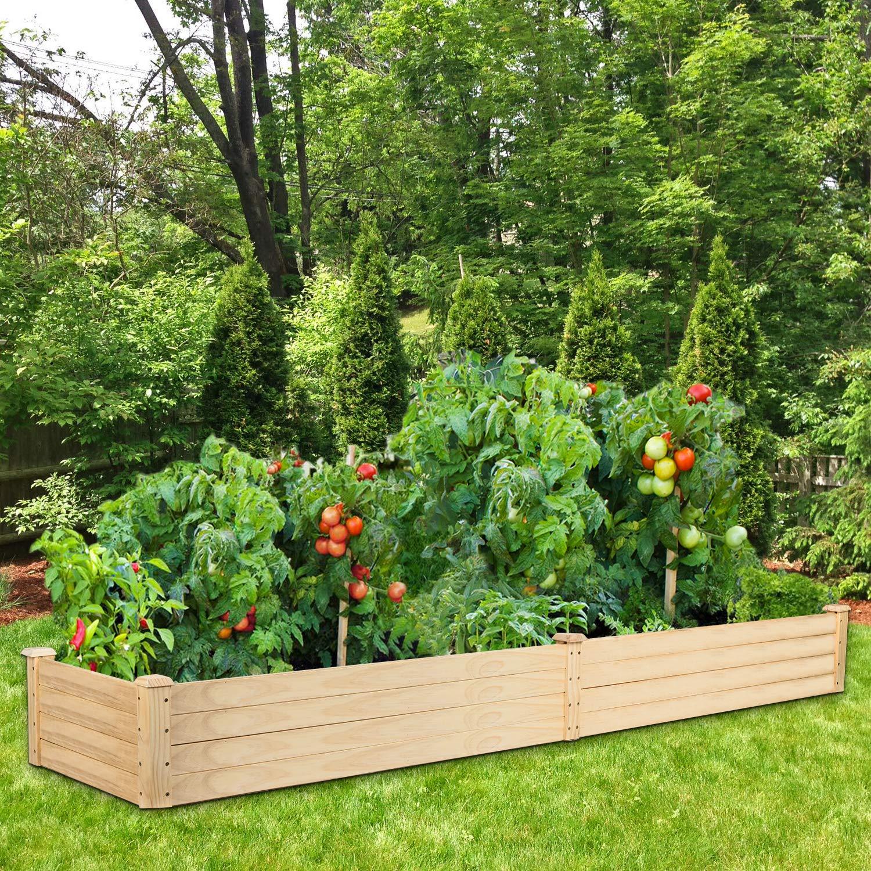 Cedar Raised Elevated Garden Bed Planter Box Kit